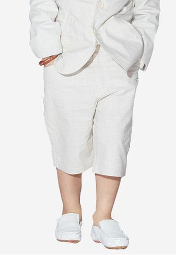 Kingkow beige Cotton Suit Shorts 6-12 years 65112KAE71FB66GS_1