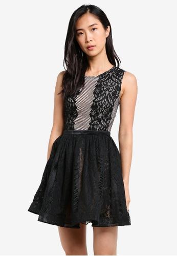 ZALORA black Fit & Flare Lacework Dress EBC2FAAC213A3AGS_1