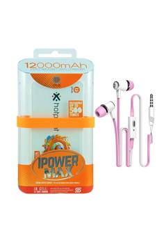 Uplus Powerbank 12000mAh with FREE Langsdom Earphone