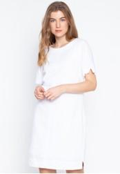 8466904bb63 Shop MARKS & SPENCER Short Sleeve Linen Tunic Dress Online on ZALORA ...