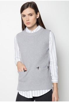 Pocketed Sleeveless Knit