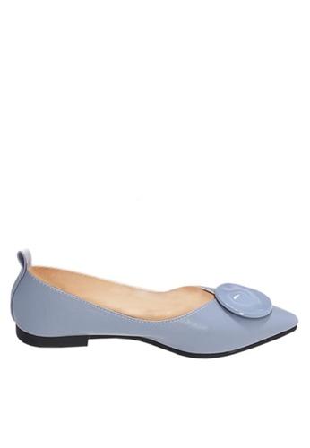 Twenty Eight Shoes blue Unique Round Buckle Ballerinas VL902117 30B54SH7456435GS_1