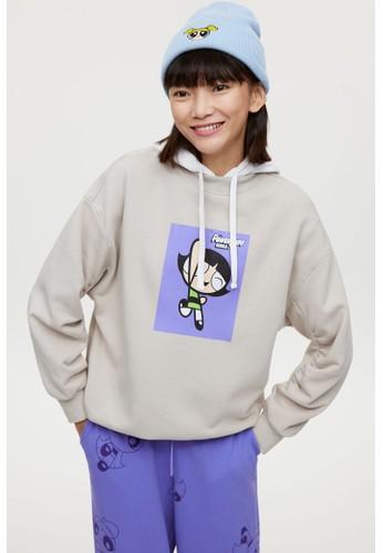 H&M beige Oversized sweatshirt 5BF75AAC719026GS_1
