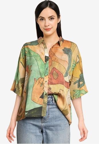 Desigual green Bonnie Shirt 91B44AAA0B4E9CGS_1