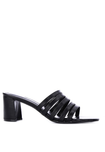 Primadonna black Strappy Heeled Slides 11F92SH0C5E7F9GS_1
