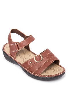 Single Band Wedge Sandals