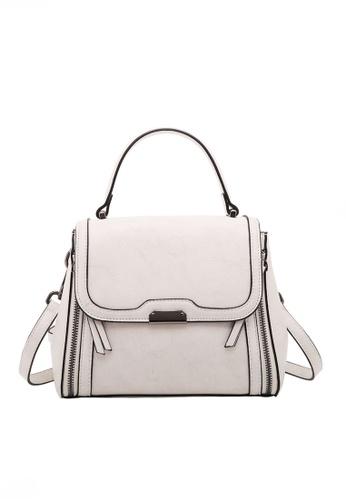 Twenty Eight Shoes white VANSA Leather Crossbody Handbag VBW-Cb66025 2FA9BAC5387D29GS_1