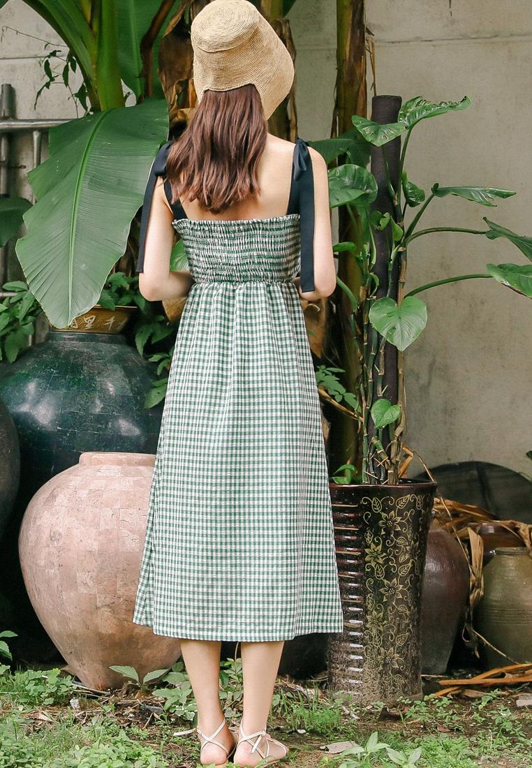 Green Shopsfashion Green in a Bow Dress Midi Tie SXqvBwv