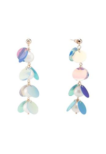 Dandelion purple Pearl Holographic Statement Earrings 0D0D9AC4D06B95GS_1