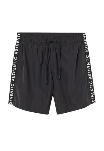 H&M black and multi Printed Swim Shorts B0FAEUSF509F9AGS_1