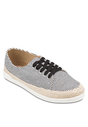 Play! VICKI 條紋麻編繫帶休閒鞋、 女鞋、 鞋VelvetPlay!VICKI條紋麻編繫帶休閒鞋最新折價