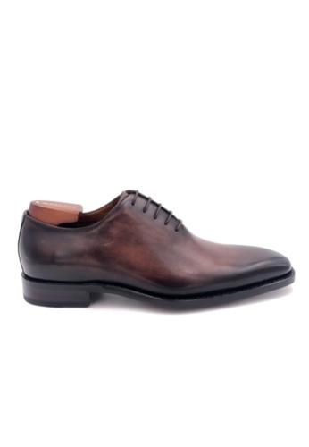 Giorostan brown Men Formal Oxford Shoes 666B7SHC5927A3GS_1