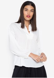 Susto The Label white Tegan Billow Sleeve Top 52731AA334B014GS_1