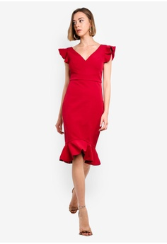 fee4ac565c437a 14% OFF Forever New Montie Frill Sleeve Dress S$ 159.99 NOW S$ 136.90  Available in several sizes