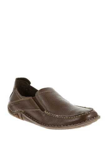 Hush Puppies brown Keenan Roller Casual Shoes AB736SHECB550DGS_1