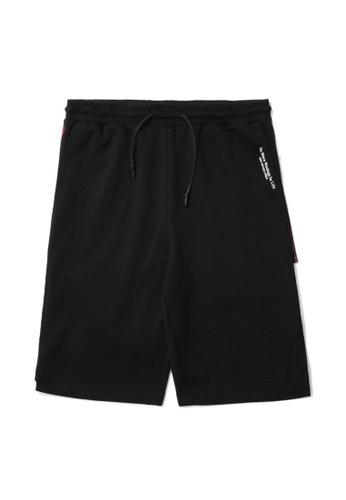 izzue black Side zip detail sweat shorts A3BB4AAE25F64BGS_1