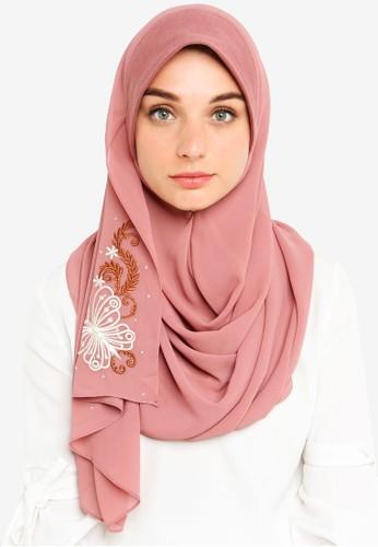 Najjah pink Tudung Sarung Sulam 0A2D0AA17DE4B7GS_1