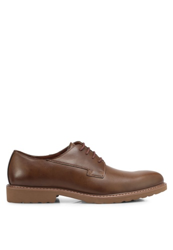 ZALORA brown Faux Leather Brogues 454D2SHCF7F33BGS_1
