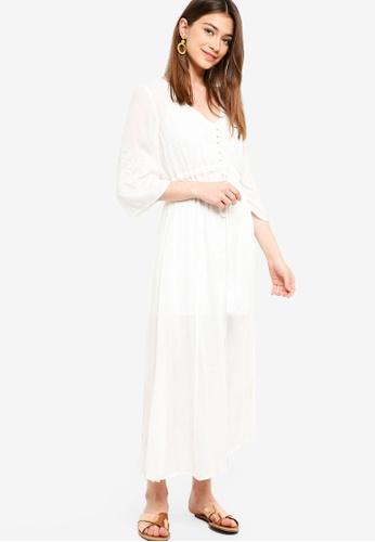 Something Borrowed white Embroidery Boho Maxi Dress 6E29CAA9D42872GS_1