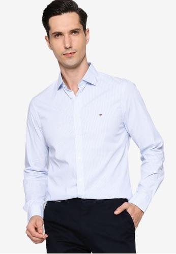 Tommy Hilfiger blue Slim Flex Poplin Stripe Shirt 9E235AAB3AAE7BGS_1