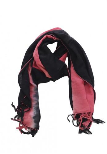 GESYAL multi Pashmina  Leher Persegi  Panjang Merah Gradasi Hitam  Tenun Tangan 92C4FAAFA7C71BGS_1