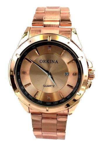 Chronomart gold Orkina Men's Quartz Movement Rose Gold Steel Bracelet Strap Wrist Watch CH783AC09VTYPH_1