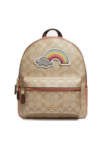 Coach brown Mini Charlie Backpack (cv) 194EFACEE30B51GS_1