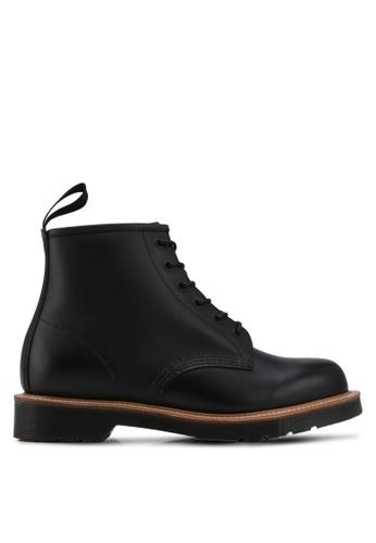 Dr. Martens black Core Originals 101 Straw 6 Eye Boots DR086SH0SX6UMY_1