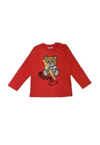 MOSCHINO BABY KID TEEN red MOSCHINO BABY LONG SLEEVE T-SHIRT 78936KA41D911EGS_1