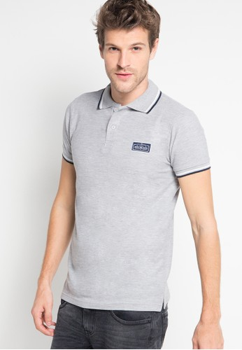 Born And Blessed grey Polo shirts 04 E0497AA7CB3E12GS_1