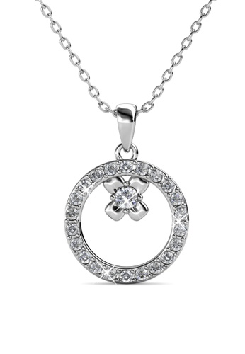 Her Jewellery silver Eliza Pendant - Embellished with Crystals from Swarovski® 6D3BCAC3CF98D3GS_1