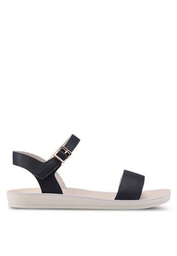 Noveni black Strappy Sandals 7FBD6SH5EC0E78GS_1