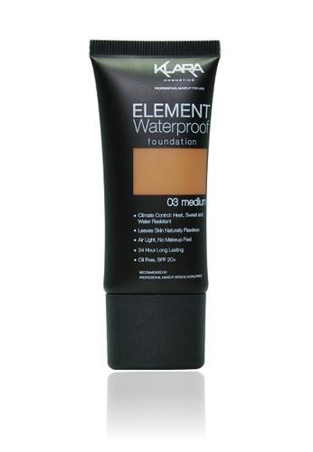 KLARA COSMETICS brown Element Waterproof Foundation 03 - Medium FF309BE26E0DB5GS_1