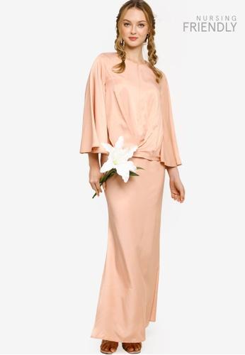 Lubna orange Twist Top with Bias Skirt E53FEAA3064F82GS_1