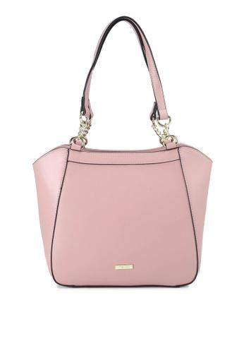 Mel&Co pink Faux Leather Double Handle Bag B4FCFACF6DEDEEGS_1