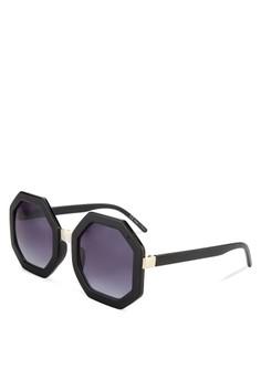 【ZALORA】 Reiger 六角框太陽眼鏡