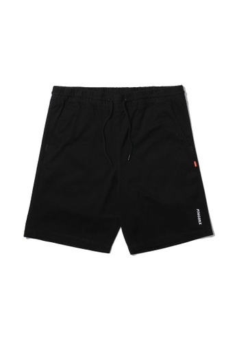 Fingercroxx black Logo embroidered shorts F0875AA310BAC2GS_1