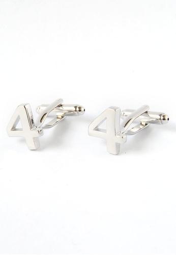 Splice Cufflinks Number Four 4 Cufflinks SP744AC72DNJSG_1