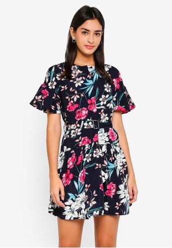 ZALORA multi Button Front Dress With Belt 2FC16AAEBCD47EGS_1
