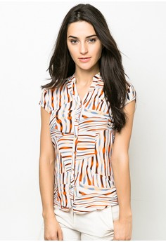 Striped Short Sleeves Top