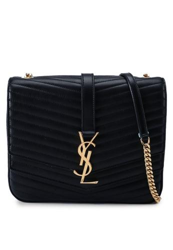 SAINT LAURENT black Medium Sulpice Crossbody Bag (zt) 492B6AC06A1D91GS_1