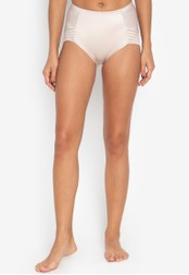MARKS & SPENCER beige Firm Control No VPL High Leg Knickers 38501US394210FGS_1