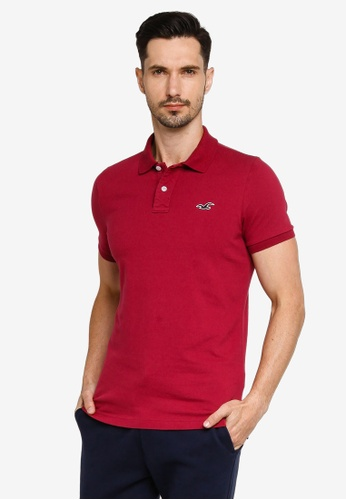 Hollister red Musclefit Polo Shirt 3F6EAAA314F7FFGS_1