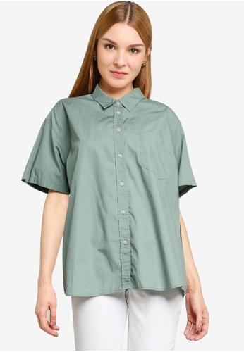 LOWRYS FARM green Short Sleeves Buttoned Shirt 45E3AAAAADB322GS_1