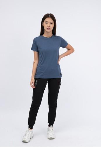 Trijee blue Trijee Women Short Sleeve Tee Callum - Blue B81ADAAED389BEGS_1