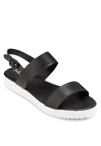 厚底繞踝平底涼鞋, 女鞋, esprit台灣官網鞋