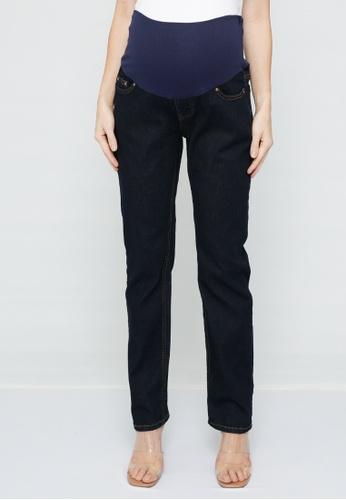 9months Maternity blue Indigo Full Panel Straight Leg Jeans 83808AA7C38F3CGS_1