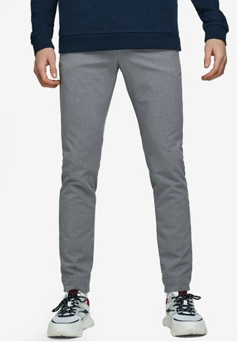 Jack & Jones grey Marco Chinos A458EAAC0B0D52GS_1