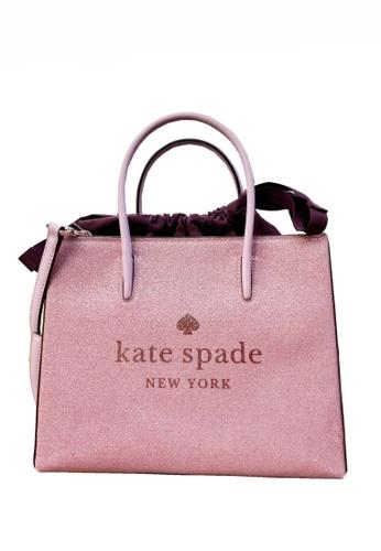 Kate Spade pink Kate Spade Trista Glitter Tote Bag - Rose Pink 3F40CACB3B1B6EGS_1