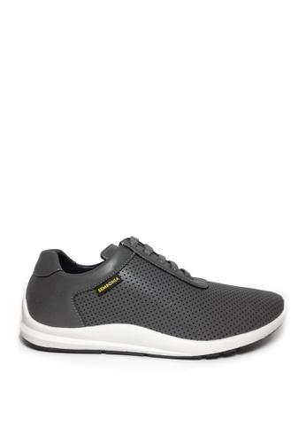 SEMBONIA grey SEMBONIA Men Microfiber Sneaker (Dark Grey) 147AFSH6DB975BGS_1